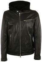 Dondup Hooded Biker Jacket