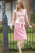 Shabby Apple Perfect Pastel Pencil Skirt Coral