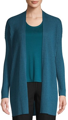 Eileen Fisher Simple Rib-Knit Cashmere Cardigan