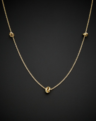 Italian Gold 14K Triple Love Knot Necklace