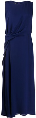 Giorgio Armani Draped Sleeveless Midi Dress