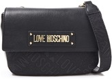 Love Moschino Logo-embellished Faux Leather And Jacquard Shoulder Bag