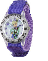 Disney Tinker Bell Kids Purple Nylon Strap Watch