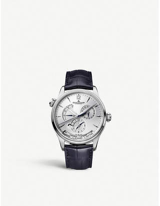 Jaeger-LeCoultre Jaeger Le Coultre Q1428421 Master Geographic stainless steel and alligator leather watch