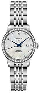 Longines Men's Record Collection Diamond & Mother-Of-Pearl Stainless Steel Bracelet Watch