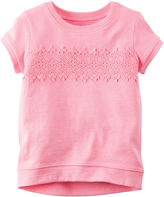 Carter's Short-Sleeve Pink Knit Fashion Top - Girls 4-8