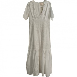 Figue White Cotton Dress for Women