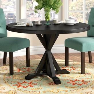 Fanning X Base Dining Table Alcott Hill Color: Antique Black