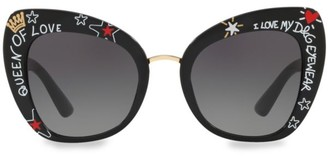 Dolce & Gabbana 51MM Butterfly Sunglasses