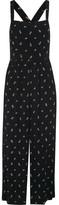 Madewell Printed Voile Jumpsuit - Black