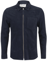 Our Legacy Suede Zip Shirt Navy