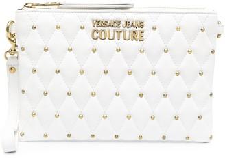 Versace Jeans Couture Studded Logo-Plaque Clutch Bag