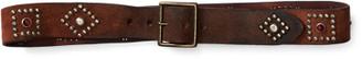 Ralph Lauren Studded Roughout Leather Belt