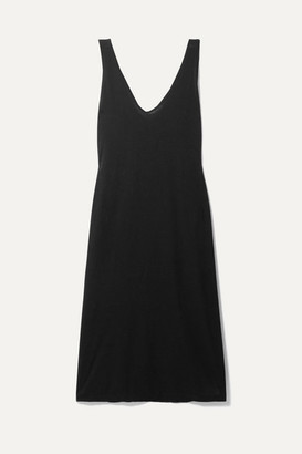 Bassike + Net Sustain Organic Cotton-jersey Midi Dress - Black