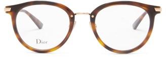 Christian Dior Diorline3f Round Tortoiseshell-acetate Glasses - Tortoiseshell