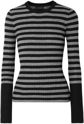 ATM Anthony Thomas Melillo Striped Ribbed Merino Wool Sweater