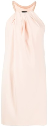 Emporio Armani Beaded Halterneck Shift Dress
