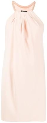Emporio Armani Beaded Halterneck Shift Dress