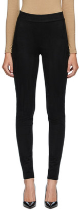 Wolford Black Velour Leggings