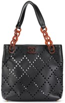 Chanel Pre Owned 2003-2004 perforated tote bag
