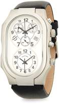 Philip Stein Teslar Men's Stainless Steel Oval Leather-Strap Watch
