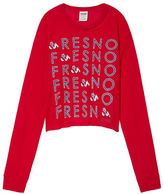 PINK Fresno State University Long Sleeve Campus Cutout Tee