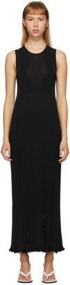 Marina Moscone Black Plisse Dress