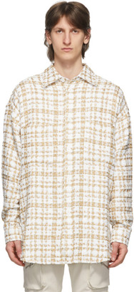 Faith Connexion Off-White and Gold Tweed Overshirt