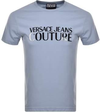 Versace Logo T Shirt Blue