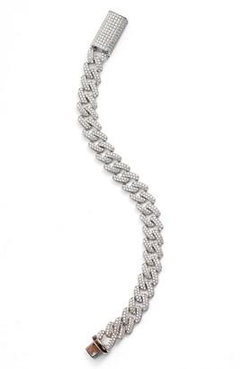 Adina's Jewels Pave Chain Link Bracelet