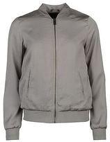 Golddigga Womens Lightweight Bomber Jacket Top Coat Long Sleeve Crew Neck