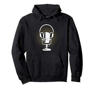 Microphone Headset Headphones Ham Radio Funny Gift Pullover Hoodie