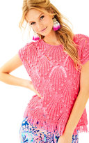 Lilly Pulitzer Cassis Crochet Top