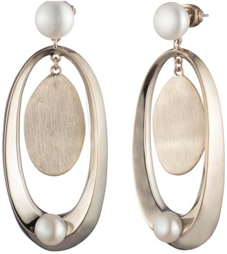 Carolee Golden Hour Freshwater Pearl Accent Double Drop Earrings