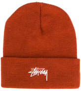 Stussy logo embroidered beanie