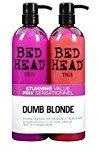 Tigi Bed Head Hair Care Dumb Blonde Tween Set: 750ml Shampoo & 750ml Reconstructor 750ml by