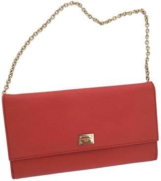 Dolce & Gabbana Orange Leather Clutch bags