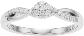 I Promise You Sterling Silver 1/10 Carat T.W. Diamond Cluster Infinity Ring