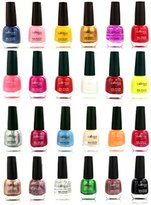 SXC Cosmetic 24 Bold and Bright Melissa Collection Nail Lacquer Nail Polish, Professional Quality & Quick Dry, 15ml/0.5oz Each, Perfect Gift For Holiday