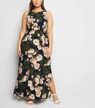 New Look Mela Curves Rose Sleeveless Maxi Dress
