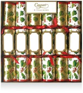 Caspari Gilded Holly Crackers, Box of 6