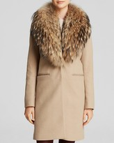 SAM. Crosby Wool Coat with Fur Trim