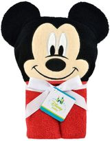 Disney Mickey Mouse Hooded Towel in Red/Black