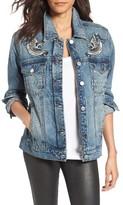 Blank NYC Women's Blanknyc Embroidered Denim Trucker Jacket