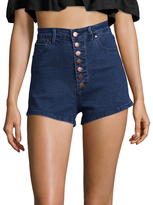 Rachel Roy High-Rise Button Up Denim Short