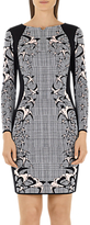 Marc Cain Check & Swallow Jacquard Dress, Black/White