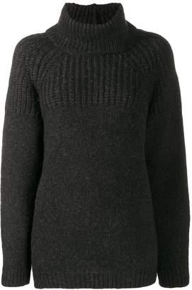 Closed roll-neck long sleeve jumper