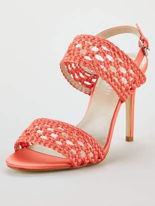 Karen Millen Weave 2 Strap Sandals - Coral