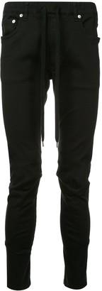 Attachment Drawstring-Waist Biker Trousers