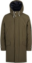 Ps By Paul Smith Olive Hooded Cotton Shell Parka